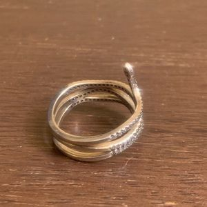 Pandora Jewelry - Pandora Sterling CZ Snake Ring
